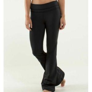 Lululemon Ruffled Up Groove Pants in Black